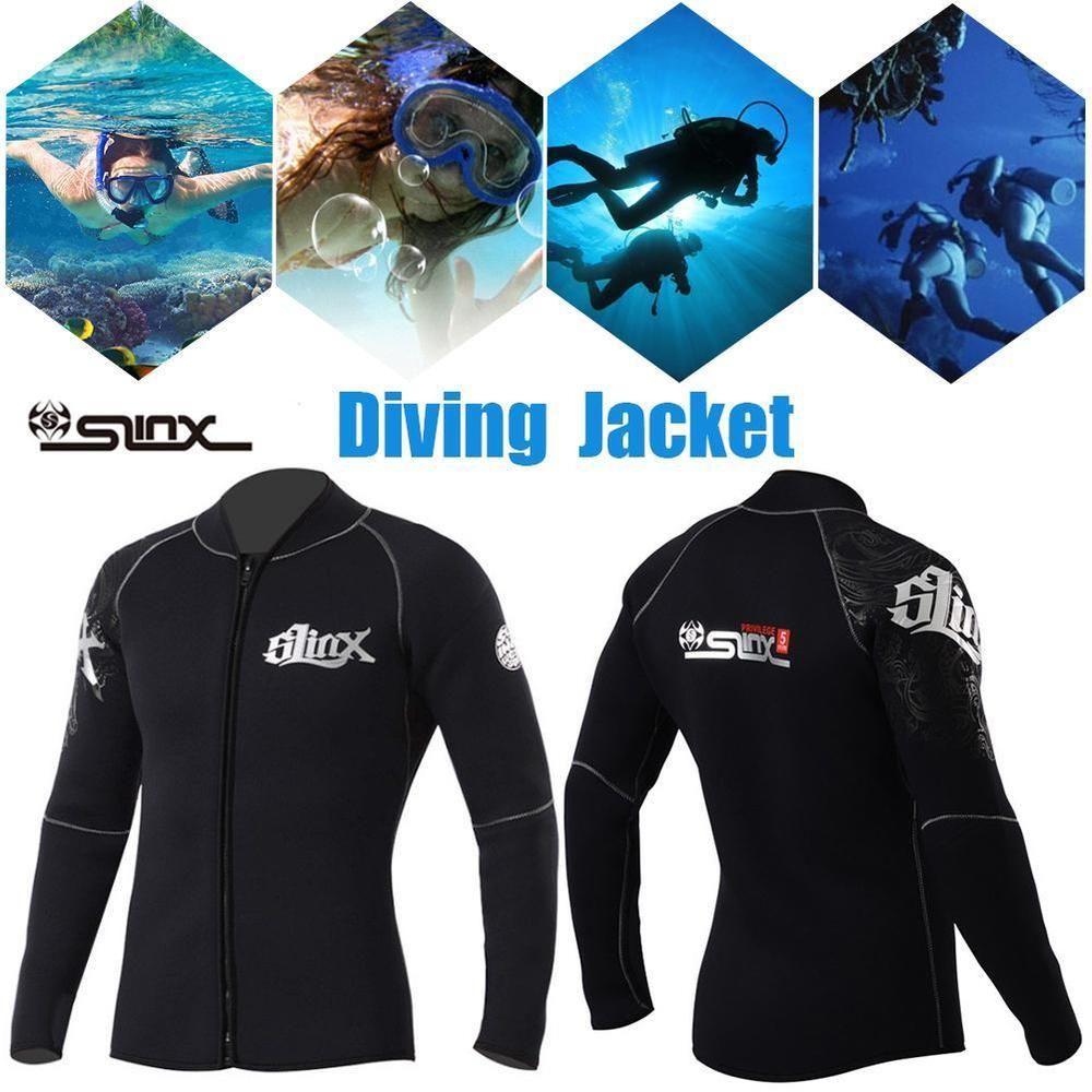 b69f60e6ab SLINX 5mm Neoprene Men Scuba Diving Swimsuit Fleece Lining Warm Jacket  Wetsuit (eBay Link)