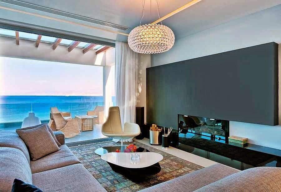 Salon casa de lujo casas de playa pinterest casas de for Decoracion de casas de playa modernas