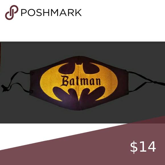 Reusable Face Mask Batman Facemask Face Mask Batman Mask