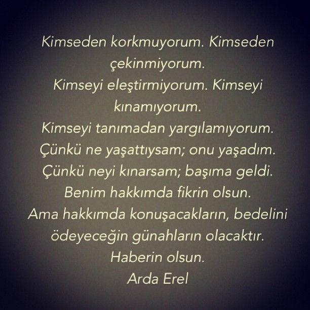 .@Arda Erel | Hayat felsefem! #tanimadanyargilama #yasamadanolmezsindemisler #ardaerel | Webstagram - the best Instagram viewer