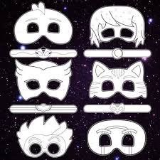 graphic relating to Pj Mask Printable Template named Impression consequence for PJ masks owlette mask template Halloween