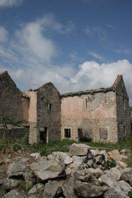 Dubrovnik. Remnants of the Bosnian war.