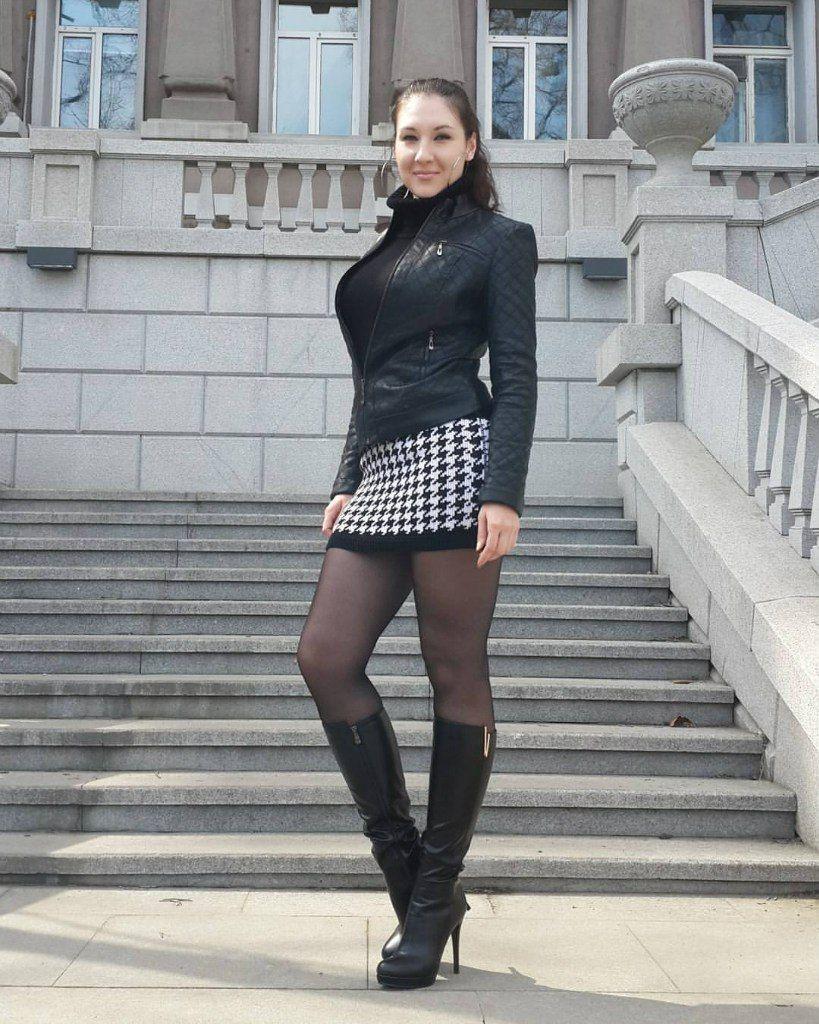 Pantyhose boots skirt — 7