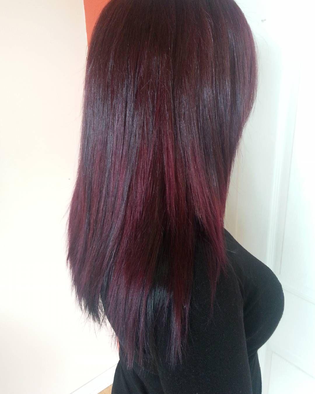 Cool ravishing black cherry colored hair hair pinterest