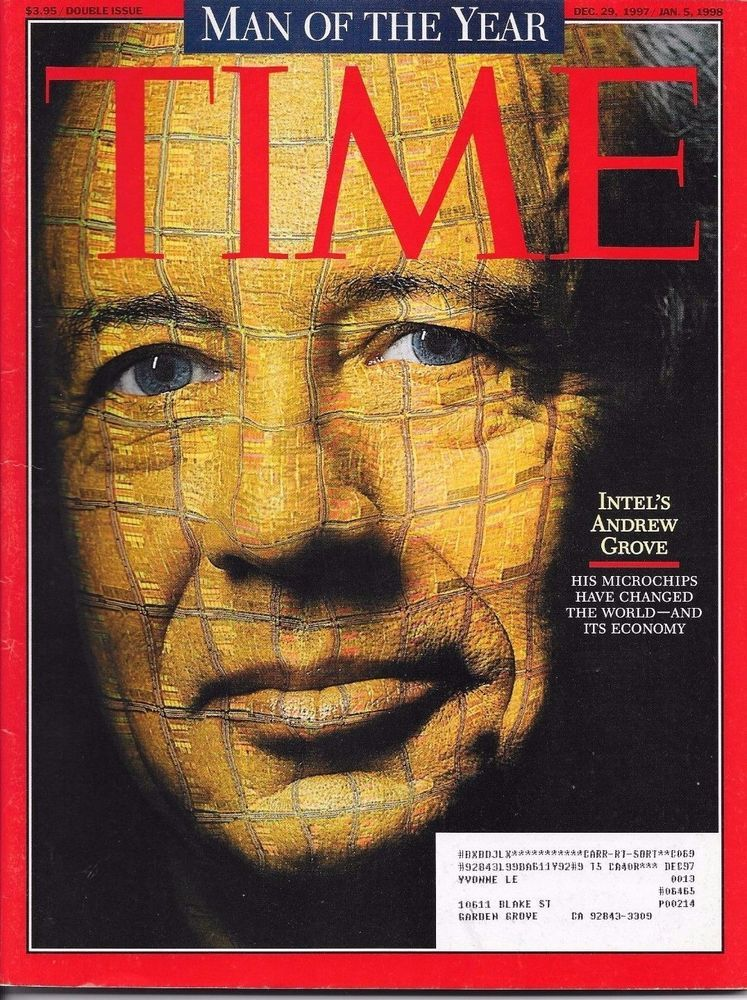 TIME DECEMBER 29 1997 / JANUARY 5 1998 MAN OF THE YEAR INTEL'S ANDREW GROVE