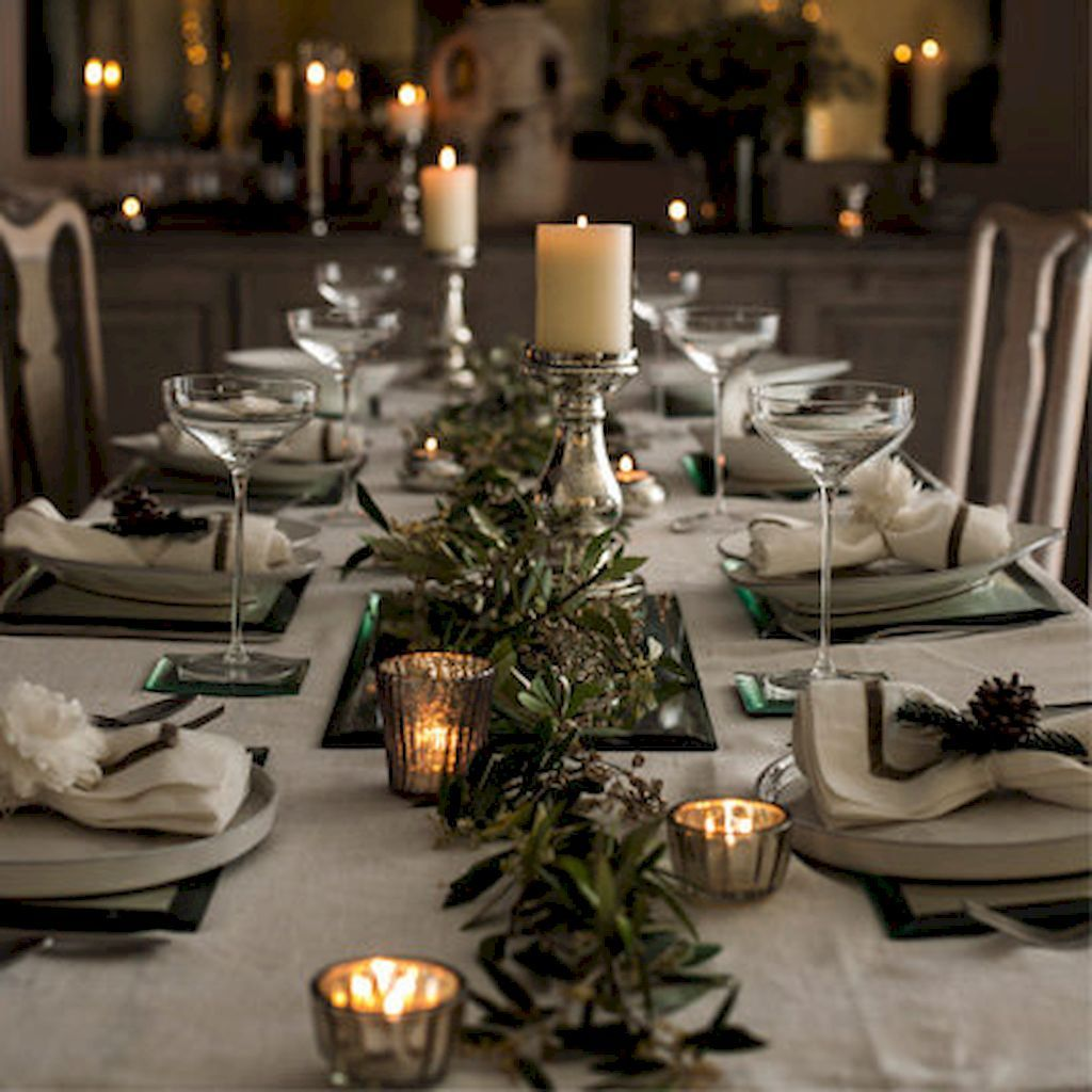 40 Awesome Christmas Dinner Table Decorations Ideas Entertaining