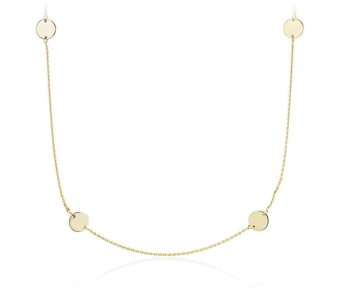 Blue Nile Stationed Marquise Layered Necklace in 14k Italian Yellow Gold woNryfl