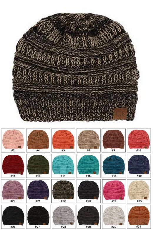 95b8a57e47f Mix Color CC Beanie