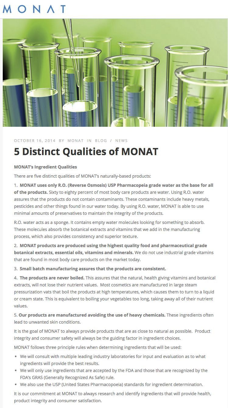 The science behind MONAT Monat ingredients, Monat hair