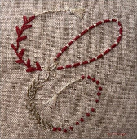 Hand Embroidery Couching French Knots Daisy Tassels