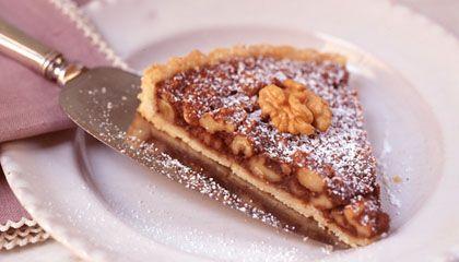 Warm Chocolate-Walnut Tart