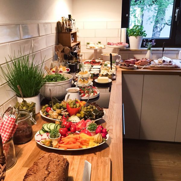 Partybuffet-Inspiration {Abendbrot für die Einweihungsparty -