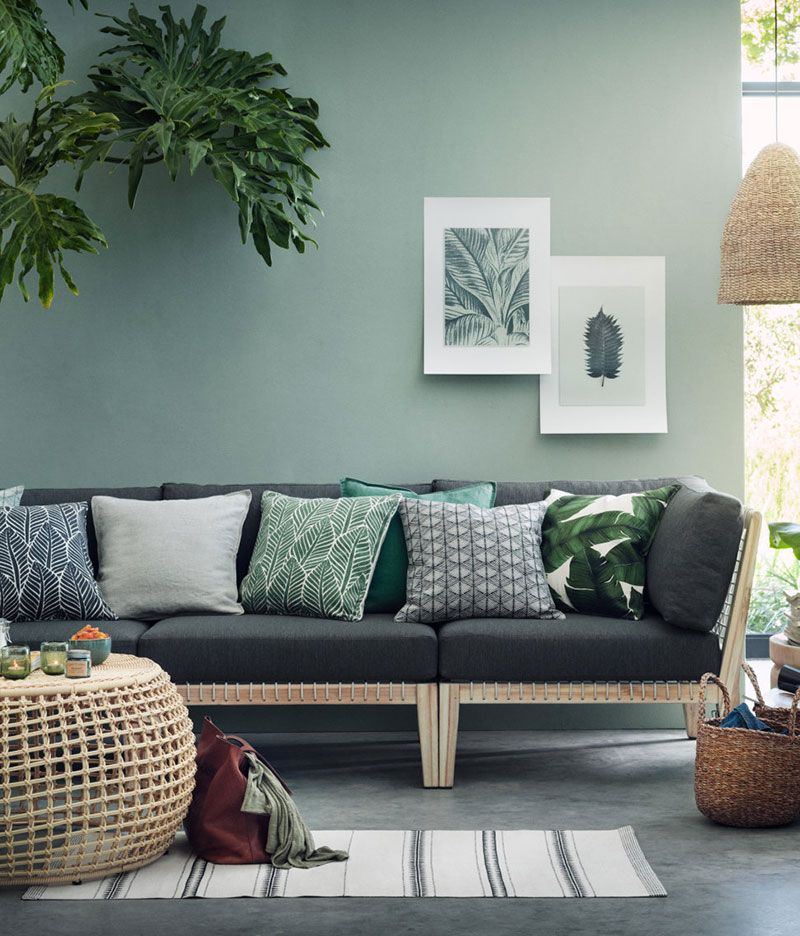 Tendenza verde salvia connessi per natura Home Decor