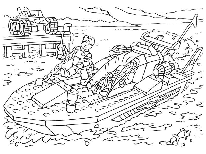 Lego Boat Coloring Pages 001