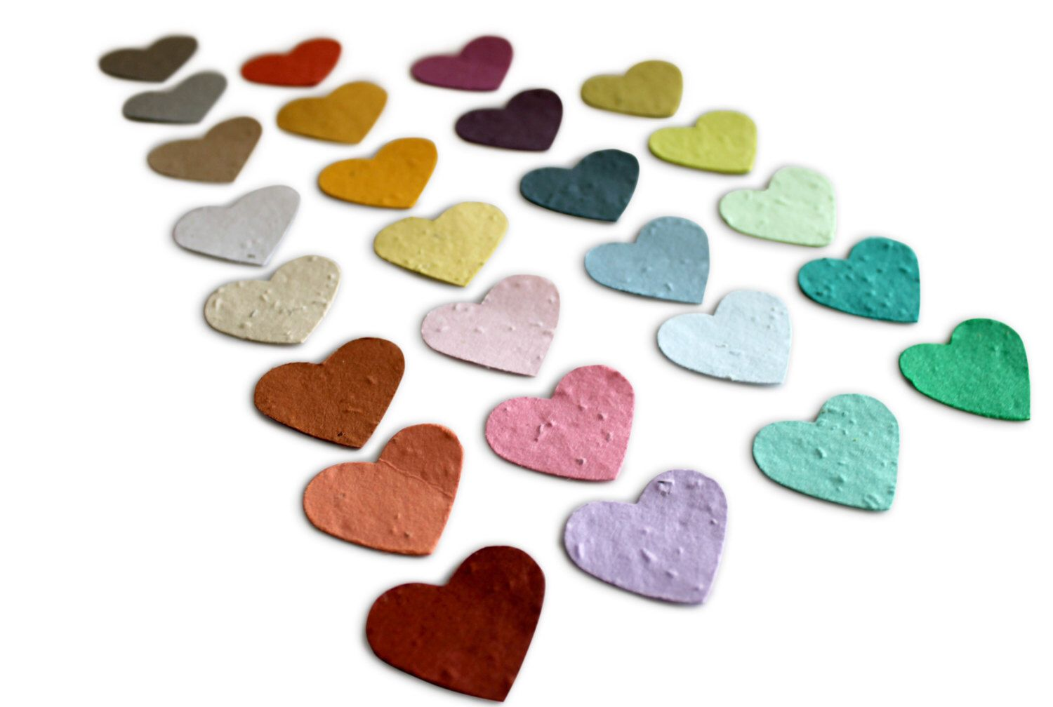 150 Heart Shaped Plantable Paper Seed Wedding Favors and Confetti ...