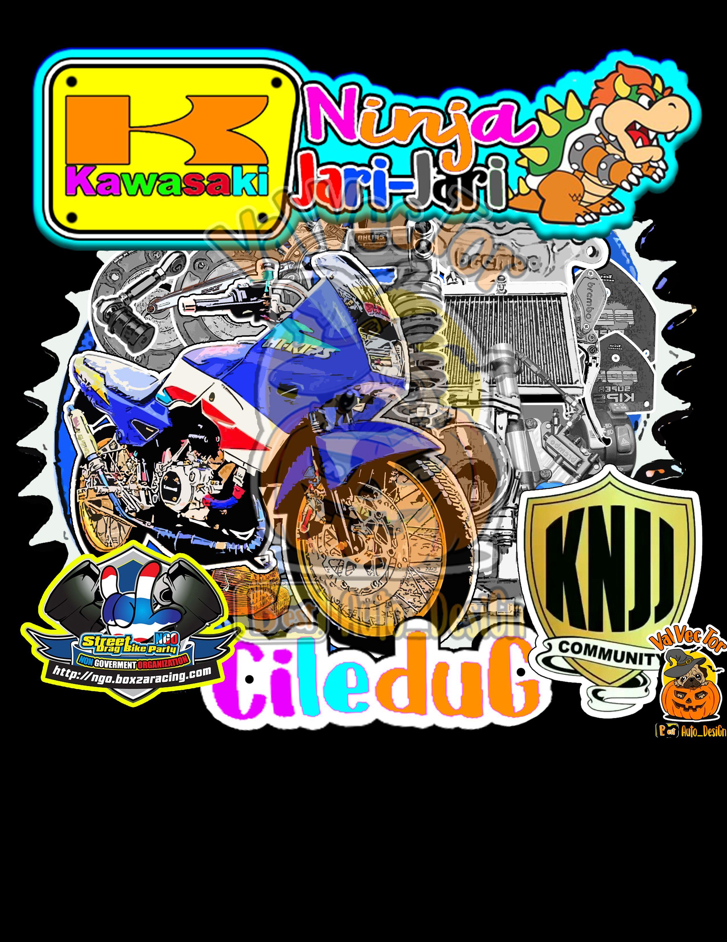 Bike design 4 kawasaki ninja150 bikevector 2stroke racevector knjj