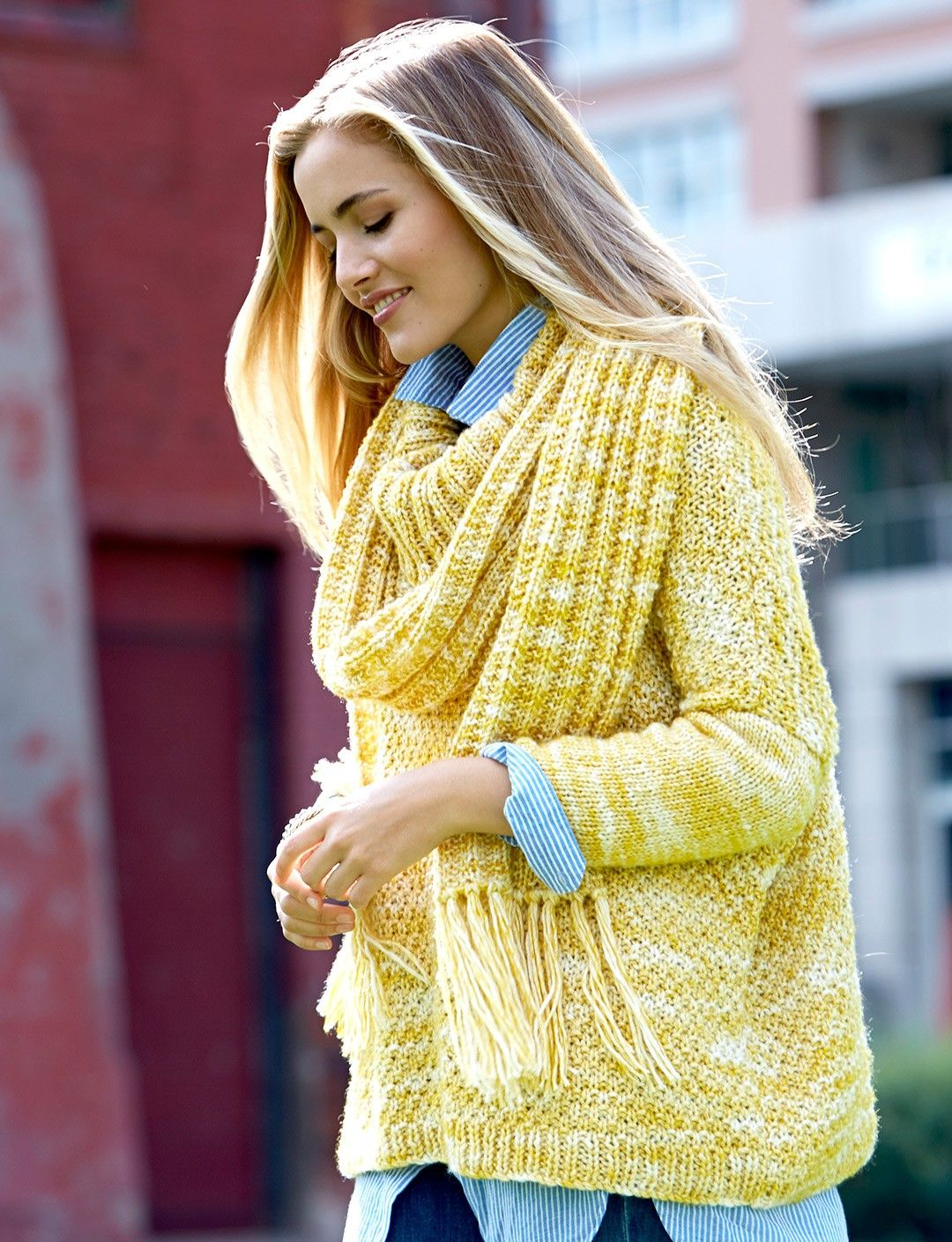Yarnspirations.com - Patons Ease Pullover - Patterns ...