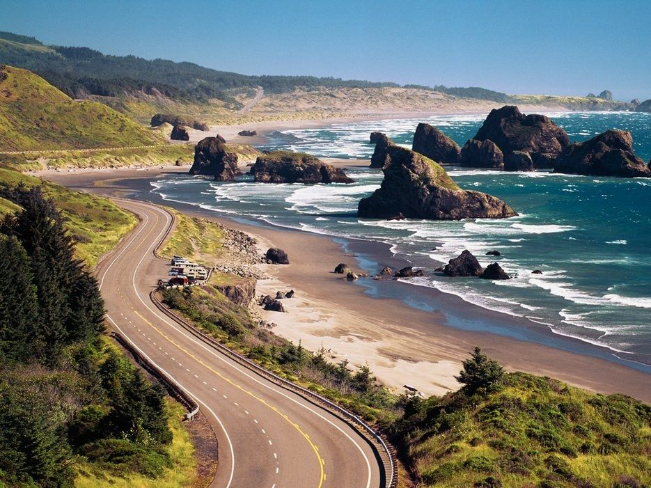 "Anyone who's driven the Oregon Coast won't be surprised that the Beaver State tops the list. There's just so much to see: from sea lion caves to massive sand dunes to the famed Goonies Rock (pictured), which stands sentry on Cannon Beach.CNT Editors say: ""One of the best scenic drives I've done—starting up at the northwestern-most tip with amazing coffee in Astoria, down the coast past Haystack Rock at Cannon Beach, a little farther for a beer on the beach in surfer's cove Paradise City…"