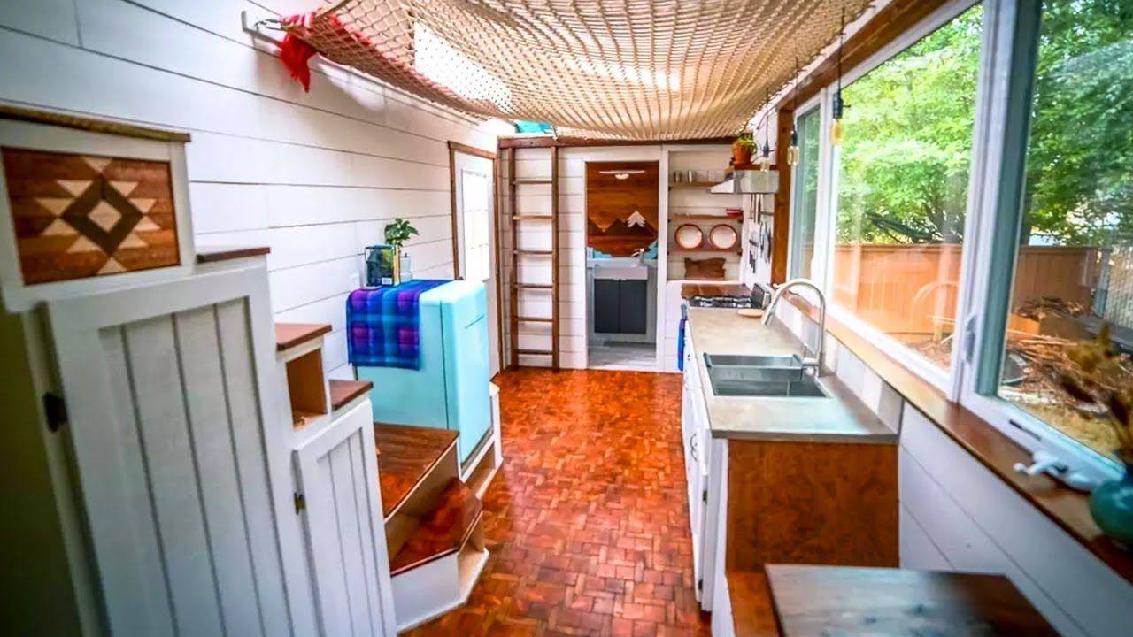 Amazing S More Life Tiny House Described On The Show Living Big In A Tin Tiny Houses For Rent Diy Tiny House Tiny House Loft