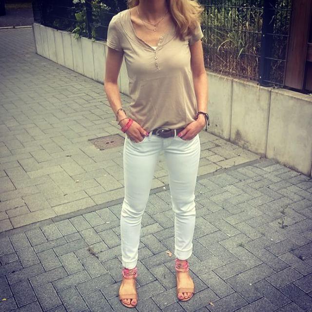 """@fashioninablog: """"Wednesday Outfit  #ootd #esprit #gstarraw #gstarrawjeans #hm #zalando #liebeskind #liebeskindberlin #summerstyle #workday #whitejeans #style #fashion"""""""