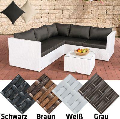 Poly-Rattan Lounge-Set LIBERI, Aluminium-Gestell (3er Sofa + 2er - gartenmobel rattan lounge set