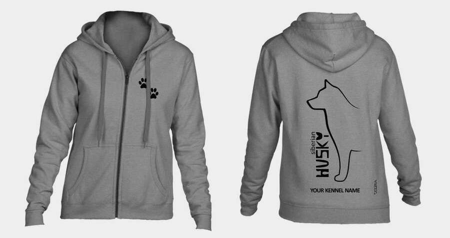 Bull Terrier Full Zipped Dog Breed Hoodie Exclusive Dogeria Design