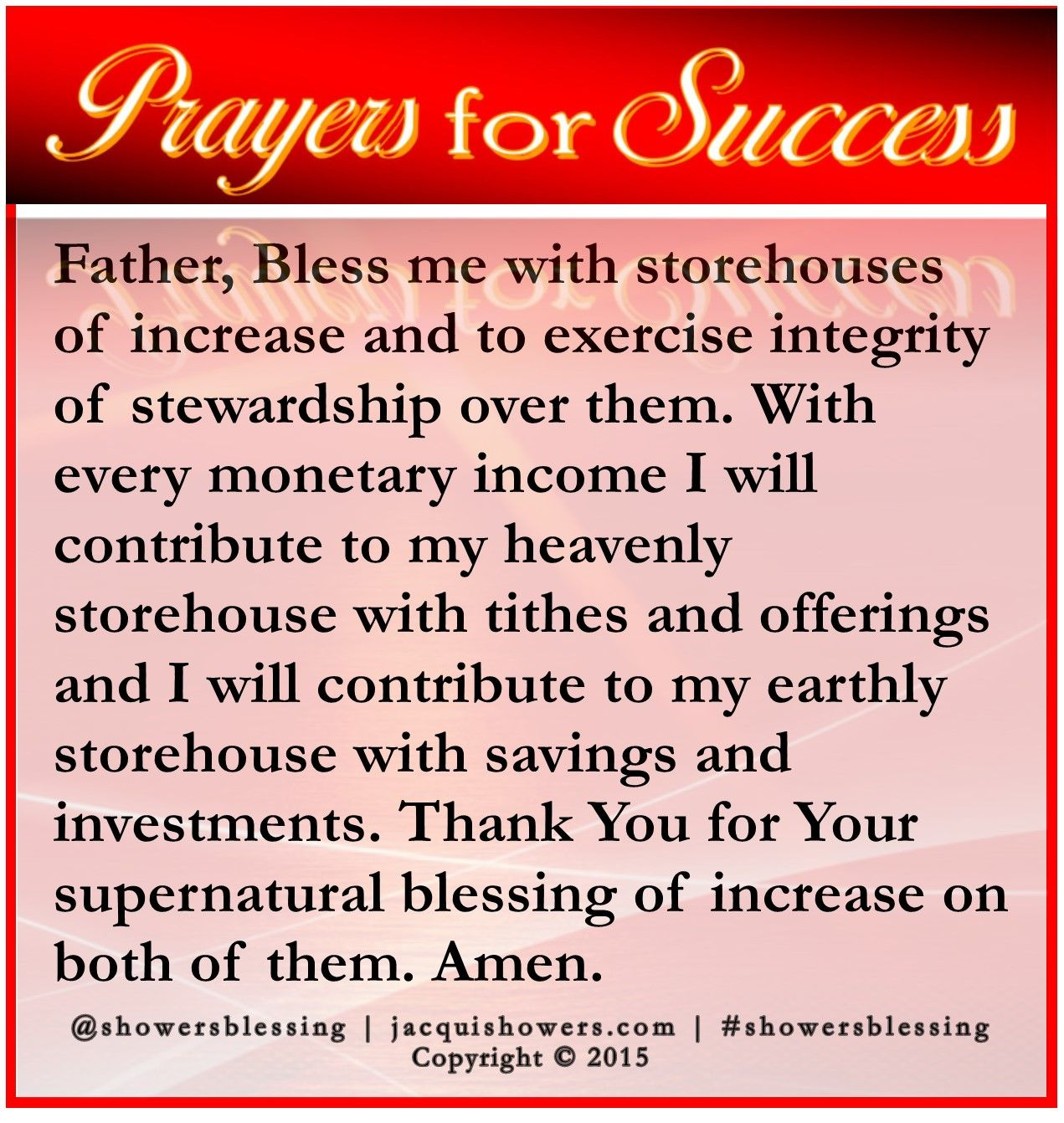PRAYER FOR SUCCESS Aug 17 | Prayers for Whatever Need