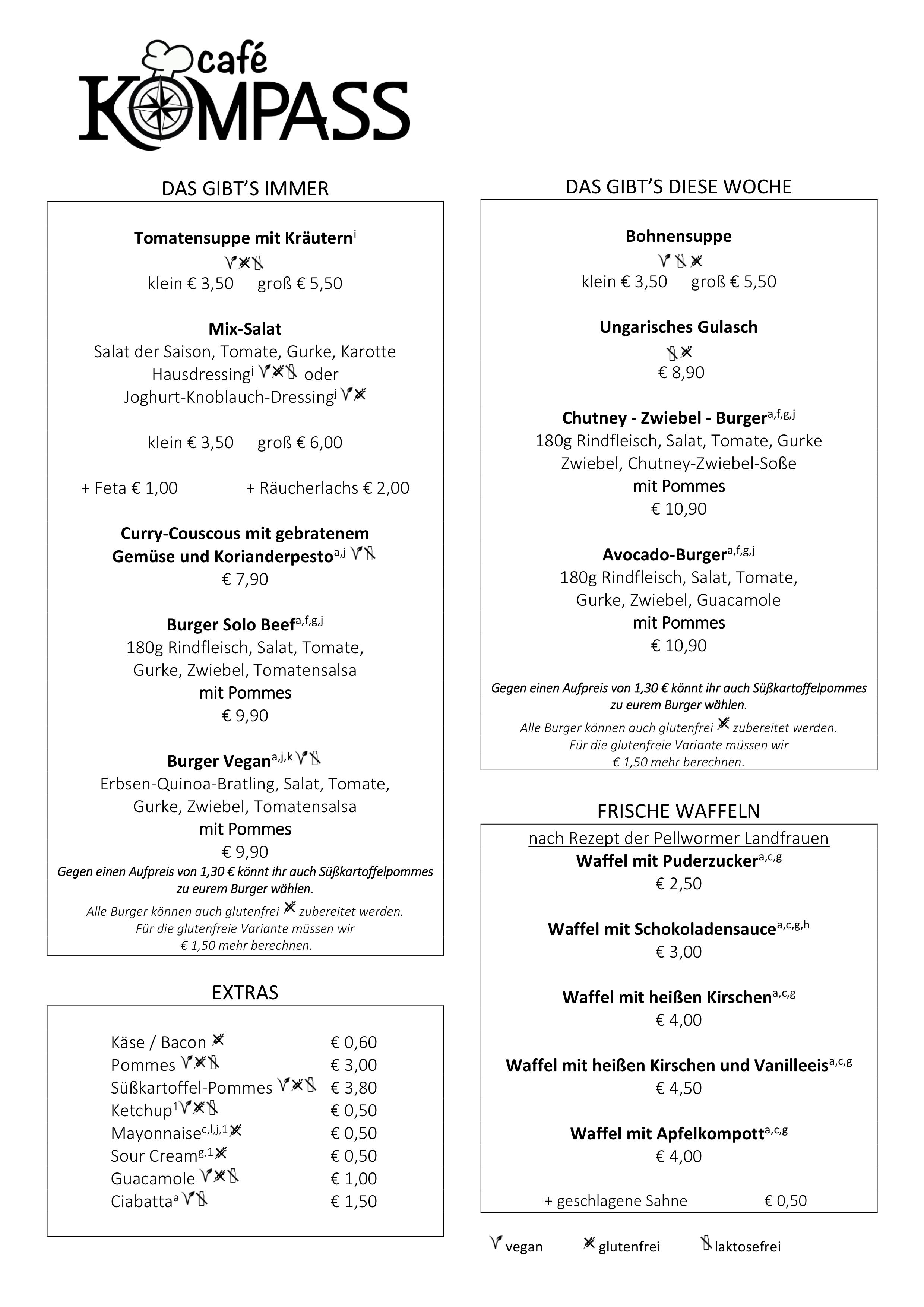 Speisekarte Cafe Kompass Cafe Restaurant In Hamburg Eimsbuttel Speisekarte Speisekarte Restaurant Restaurant Hamburg
