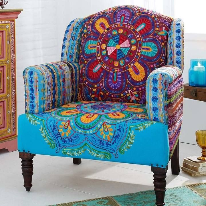 from blame my gypsy soul of peace and love luv this multifabric chair look diy furniture in. Black Bedroom Furniture Sets. Home Design Ideas