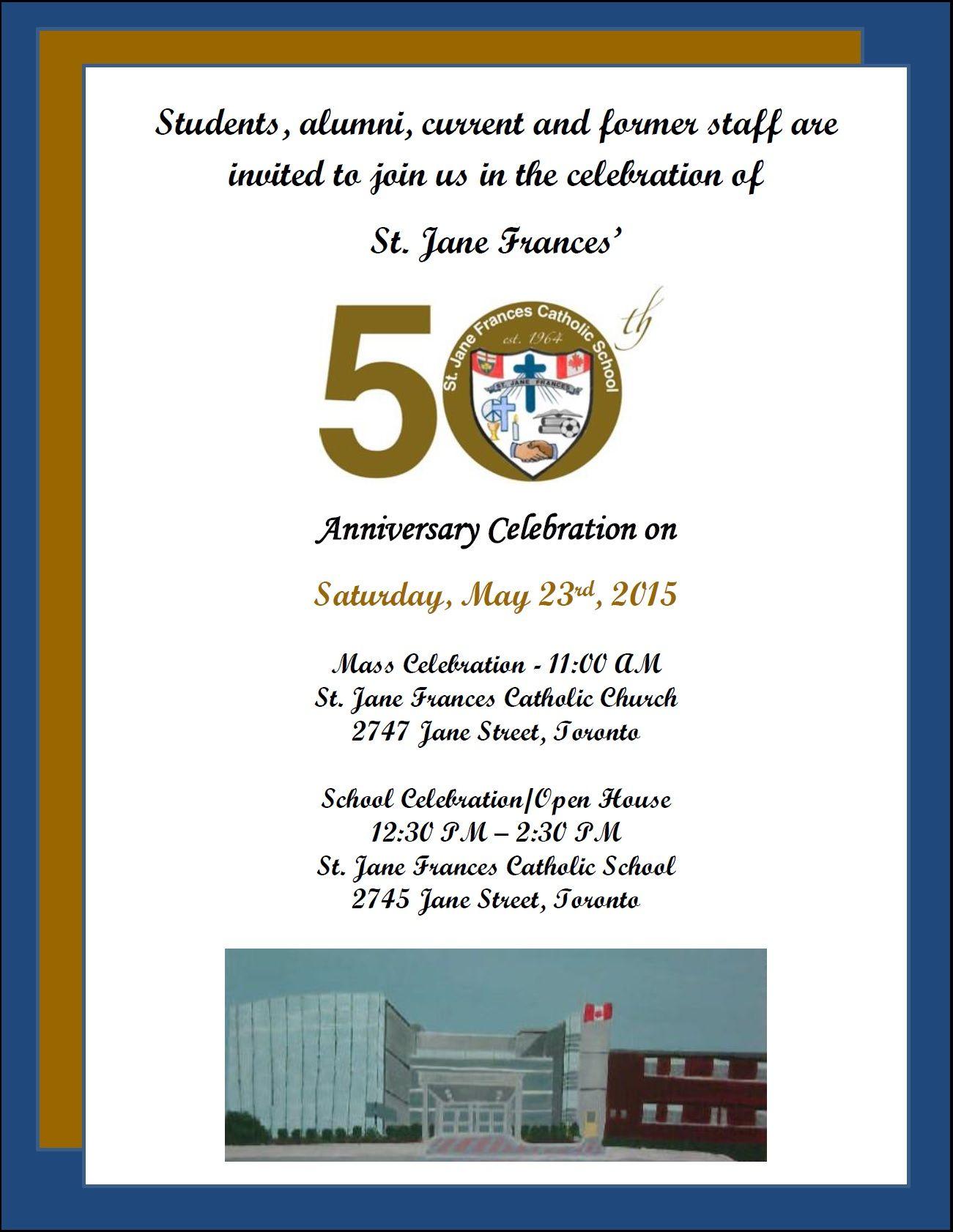 catholic school anniversary - Google Search | RWA 50th celebration ...