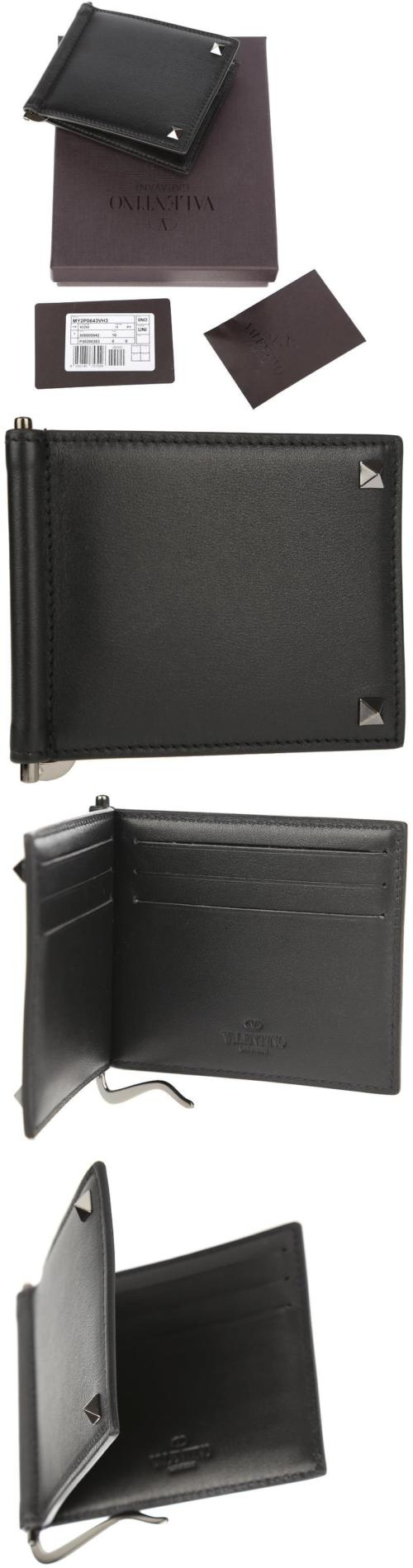 36dfca93eff54 Business and Credit Card Cases 105860: New Valentino Garavani Men S  Rockstud Money Clip Cc Id Case Bifold Wallet -> BUY IT NOW ONLY: $262.49 on  eBay!