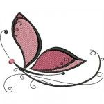 Free Embroidery Design: Butterfly - I Sew Free