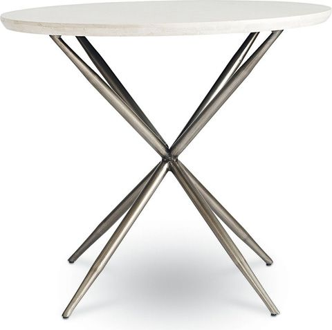 Thomasville Furniture   Round Travertine Side Table   84191 221