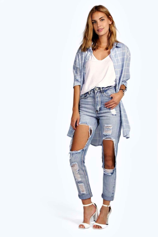 fff925f9743 Brea Distressed Boyfriend Cheeky Rips Jeans at boohoo.com | Clothes ...