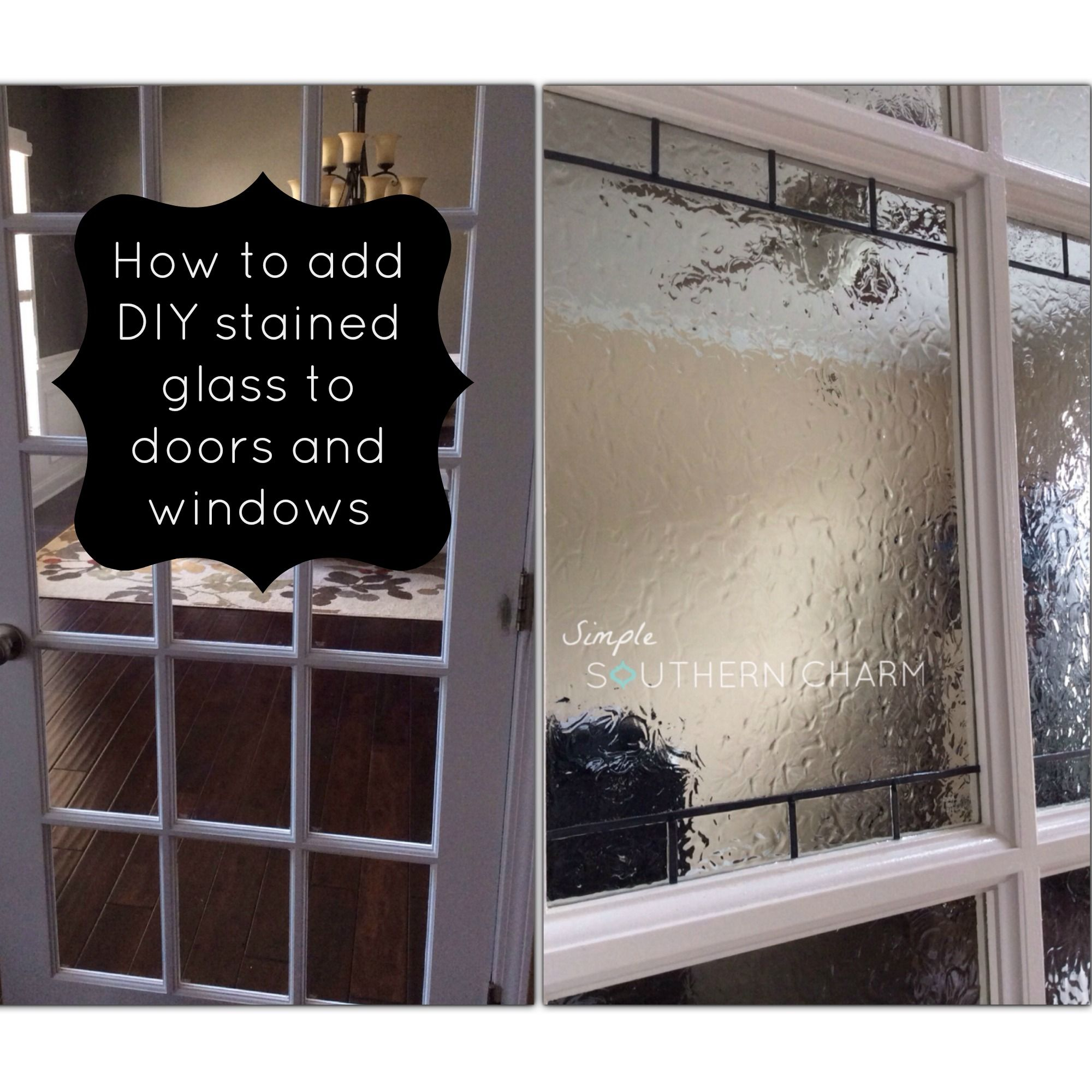 Learn how to get a stained glass look! Check out these easy step by step instructions on how to create this faux DIY stained glass technique!