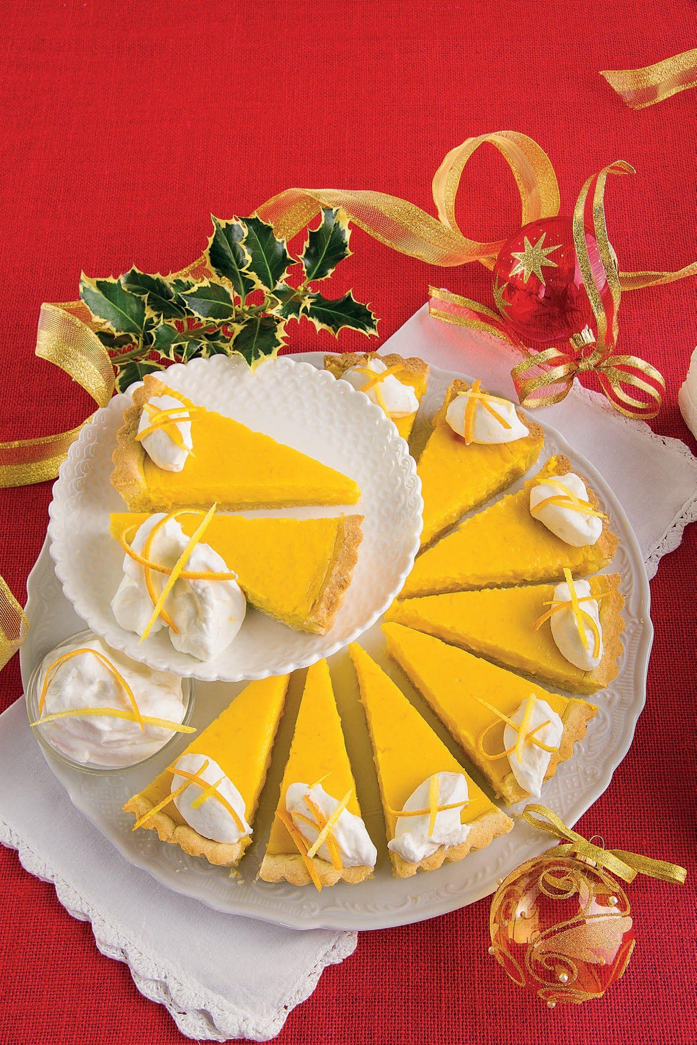 Torta Per Pranzo Di Natale.Crostata Di Santa Lucia Con Crema Al Limone E Arancia