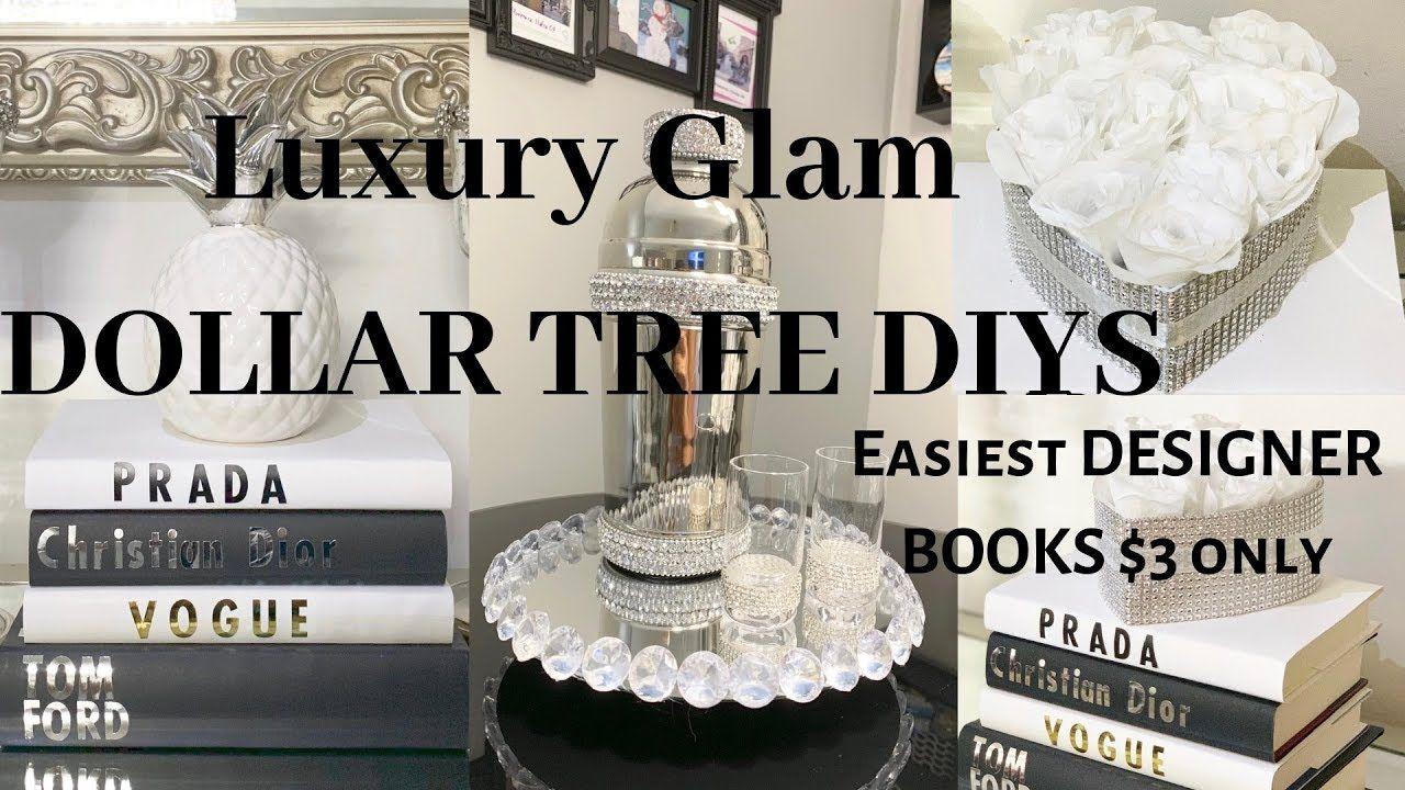 Dollar tree diy glam home decor ideas designer books for
