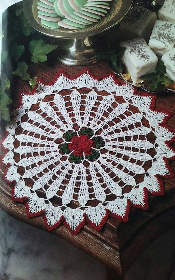 Vintage Christmas doily pattern, doily pattern, PDF download ...