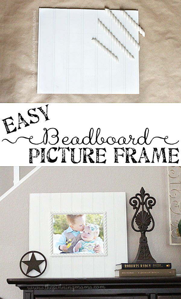 DIY this beadboard picture frame easily with just glue and paint to ...