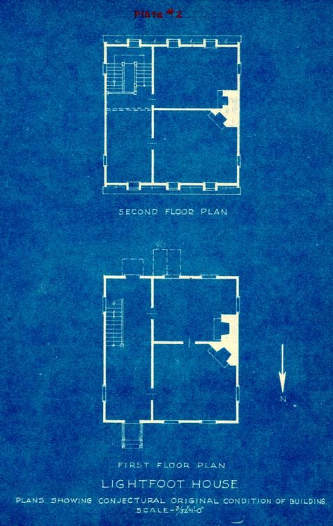 Lightfoot House Blue Prints House Plans Colonial Williamsburg Cottage Style House Plans