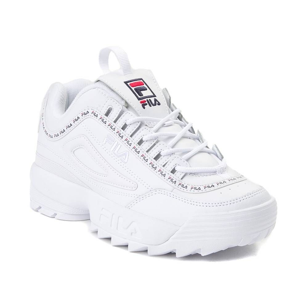 buy online 428c6 a4ccd Womens Fila Disruptor II Premium Athletic Shoe - White Navy Red - 452028