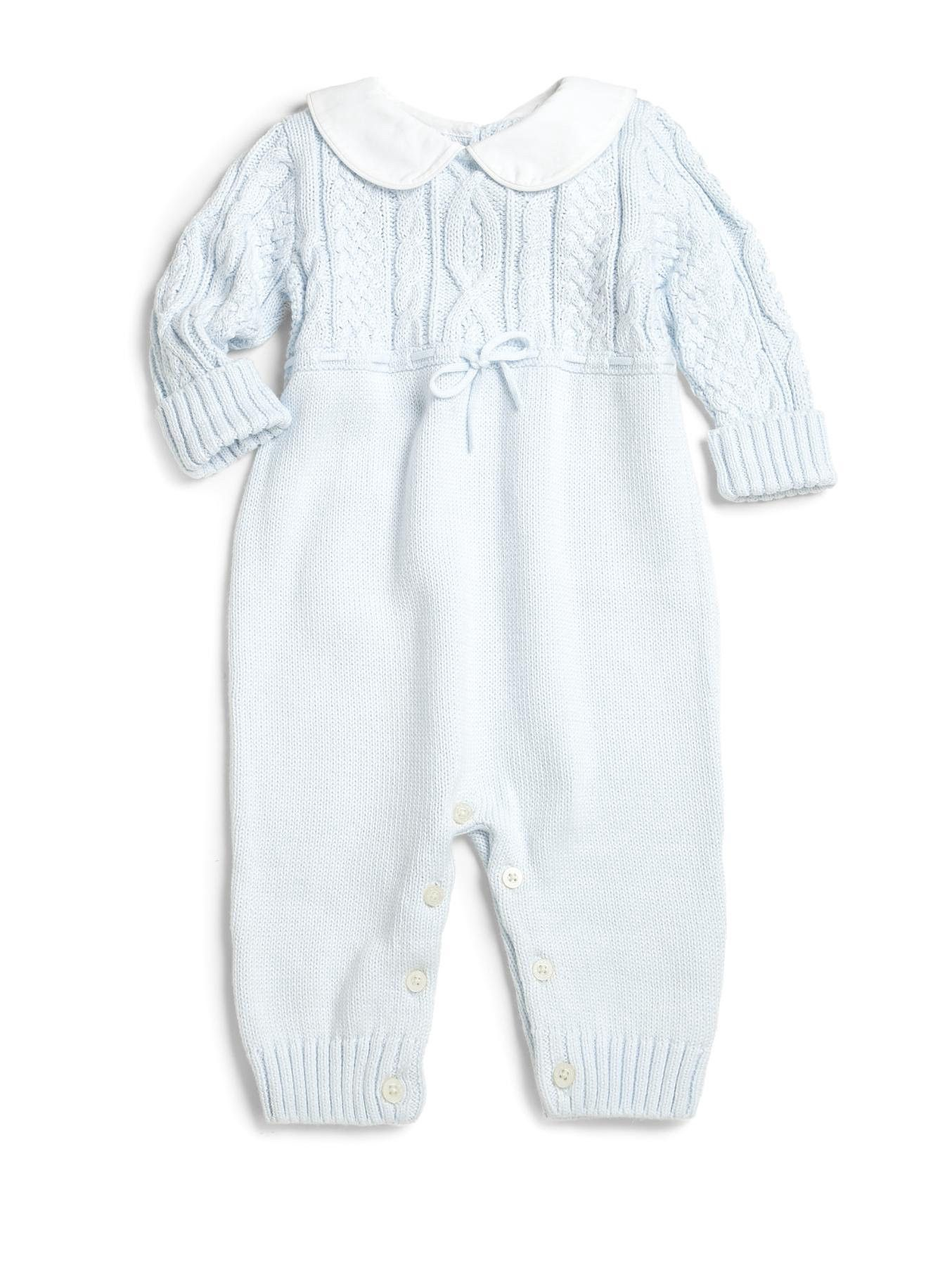 41fd03ae Ralph Lauren Baby's Cable-Knit Coverall - Blue 3 Months in 2019 ...
