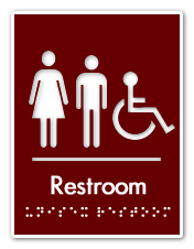 Braille Handicapped Unisex Restroom Sign Decoracao