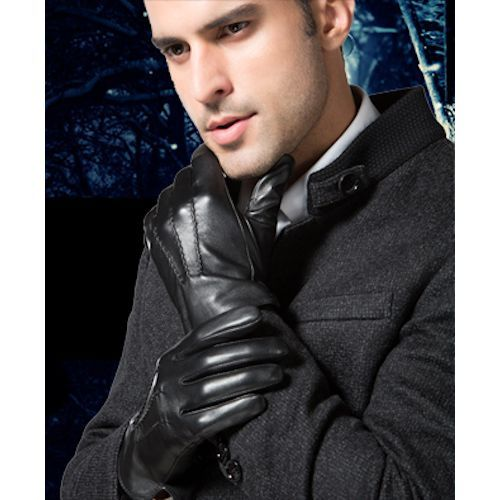 Mens Black Goatskin Leather Dress Gloves Clothing Stores For Men Sku