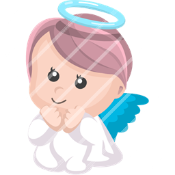 angel, baby icon