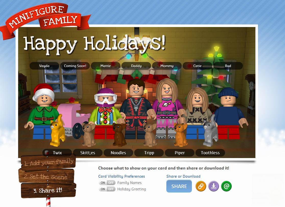 make-a-lego-christmas-card.png 1,117×812 pixels | Xmas card ideas ...