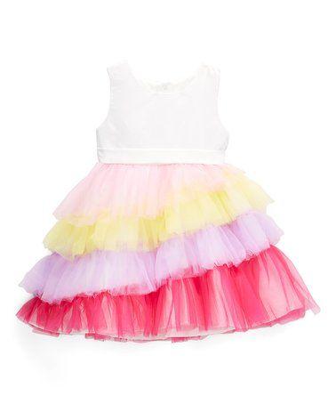 a34921dbe Rainbow Ruffle Bow Dress - Infant