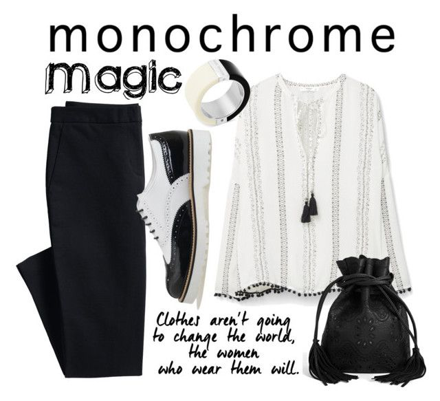 """Make it monochrome"" by gulli-jules ❤ liked on Polyvore featuring Canvas by Lands' End, MANGO, Hogan, Boohoo, Michael Kors and monochrome"