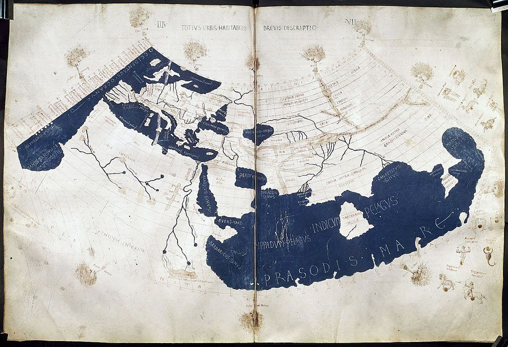Medieval map based on ptolemys work Medieval