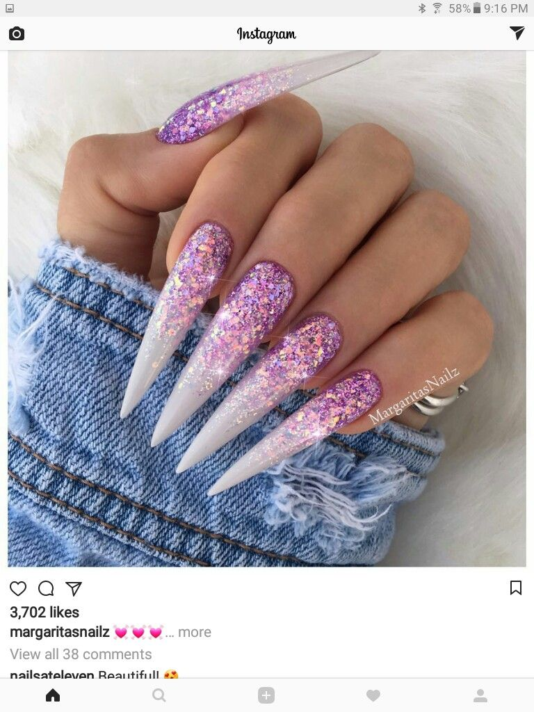 I dunno how you\'d function with nails that long, but it looks cool ...